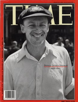 Don Bradman on Time Magazine cover