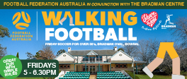 Walking Football: Over 50s on Fridays 5-6.30pm at Bradman Oval - Great fun